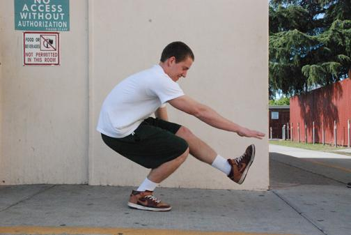 Single Leg Squats:  Start with your legs about shoulder width apart. Extend one leg straight out while bending the opposite knee. Reach with the hand that is on the side your knee is bending. You want to try and make a parallel line with the extended knee and your outreached hand.    (TIP: Lean forward so your weight is pushing towards your extended leg to stay balanced)  3-4 sets of 10