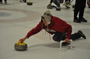 The Viking tries Curling at Sharks Ice in San Jose with the SFBACC