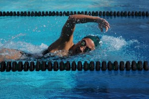 Girls' swimming maintains 5-0 record by sweeping Homestead