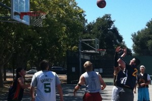 Team Paige defeats Team Sam 12-4 in annual Viking staff basketball game