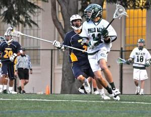 Boys' lacrosse falls short, loses to Menlo 11-7