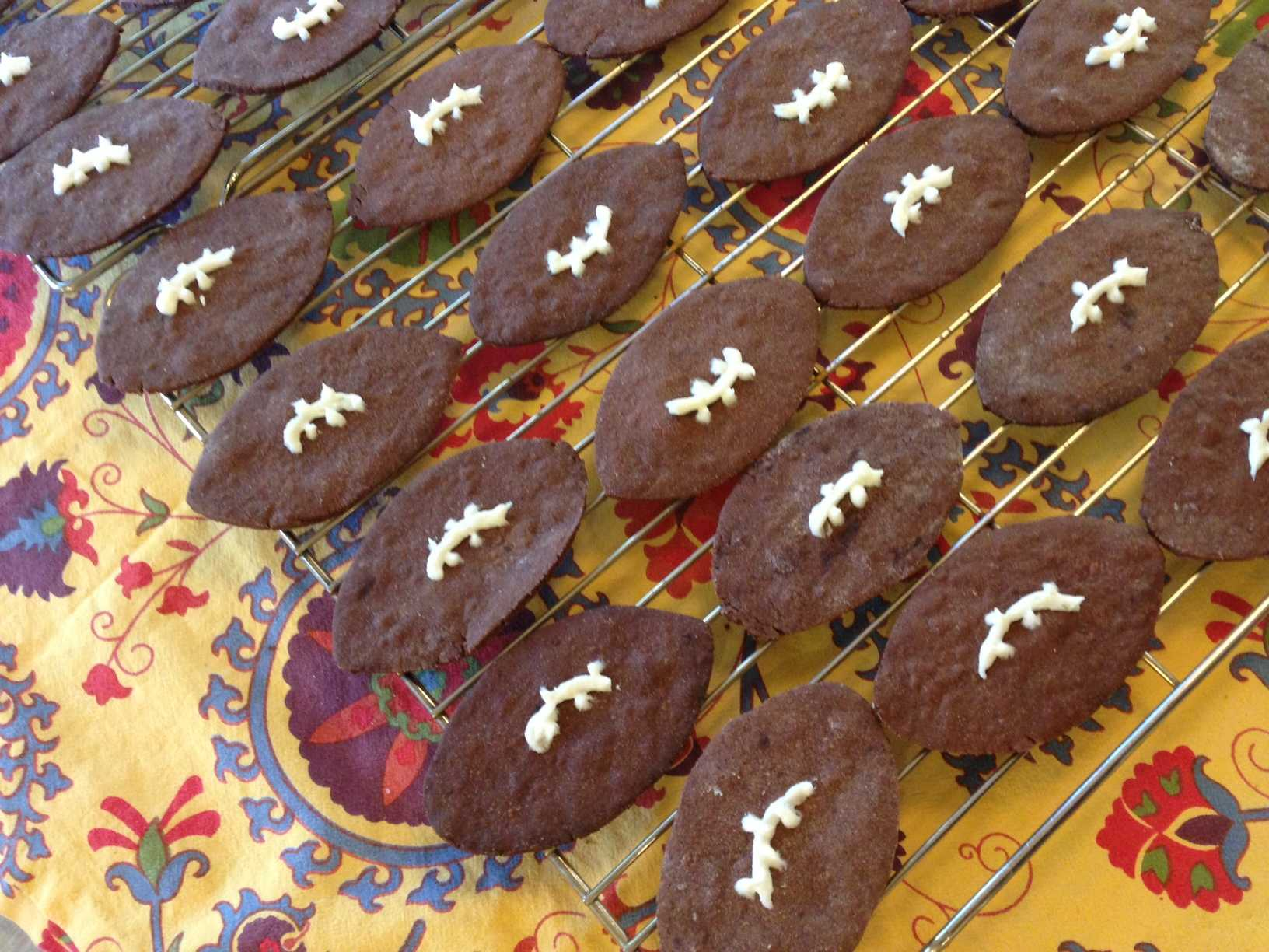 After years of traditional superstitions, chocolate football cookies might just be the secret to 49er success in the Superbowl.