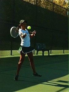 Girls' tennis team stays undefeated