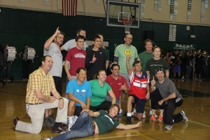 Staff vs. student basketball game ends in 22-14 blowout