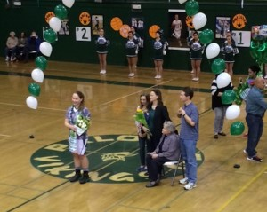 Girls' basketball falls 37-31 on senior night