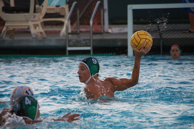 Boys' water polo clenches a 9-7 victory over Monta Vista Matadors