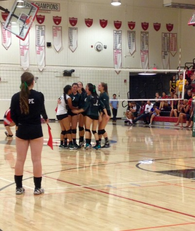 Volleyball defeats crosstown rival Gunn 3-2