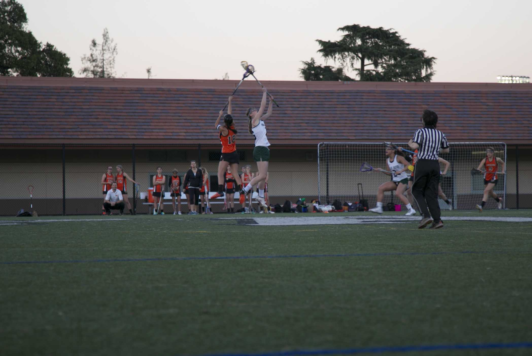 Emma Staiger ('18) wins the draw for the vikings in its 16-8 victory over Los Gatos
