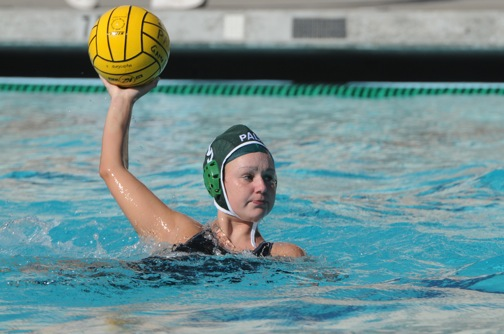 Haley Conner winds up for a shot against Monta Vista