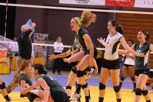 The Lady Vikes had plenty to be excited about Saturday night, as they won Paly's first volleyball state championship and finished their season with a nearly perfect record of 41-1.