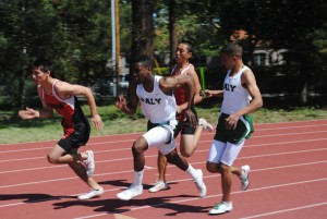 Paly boys' track and field beats crosstown rival Gunn 81-46