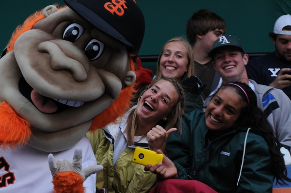 The Viking Magazine staff enjoyed an evening getting to know the San Jose Giant's mascot; Gigante.