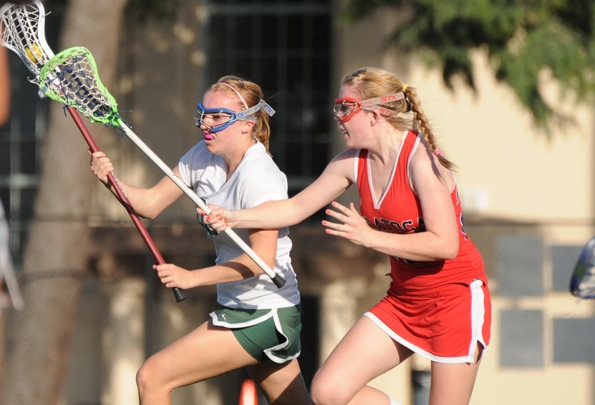 Viking goalie Gayle Schumacher ('11) scored her first goal on Thursday.