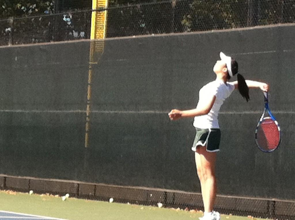 Felicia+Wang+%28%2712%29+winds+up+for+a+serve