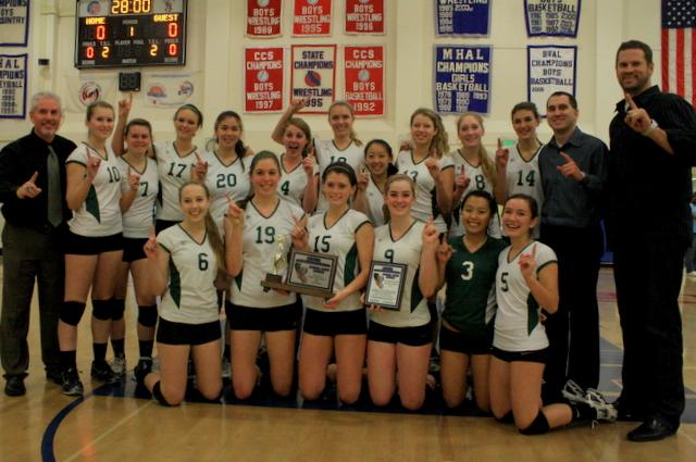 Volleyball captures CCS Championship title, beats Menlo-Atherton in three games