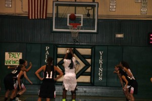 Girls' basketball blows by Gunn on Quad Night 65-49