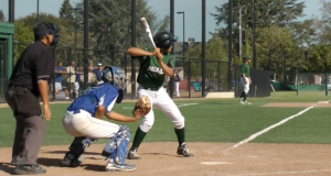 Alec Wong ('12) is up to bat. Wong had one run for the Vikings.