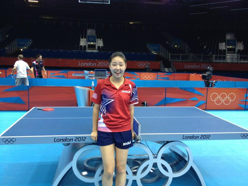 Zhang+poses+in+front+of+the+table+at+the+ExCeL+stadium+on+Wednesday.+She+lost+in+the+first+round+to+Croatia%27s+Cornelia+Vaida.