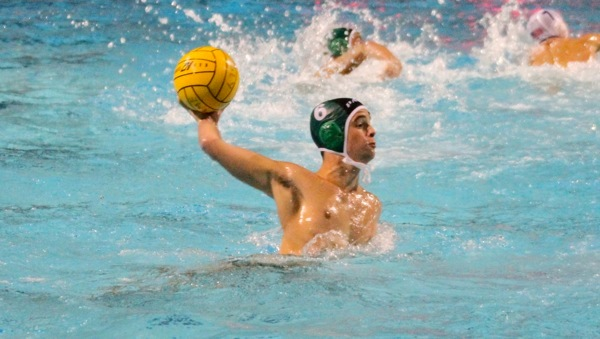 OCT. 23, 2012 Sam Kelley ('14) fires against the Los Altos Eagles goalie in over time of the Senior Night game. The Vikings lost 11-12.