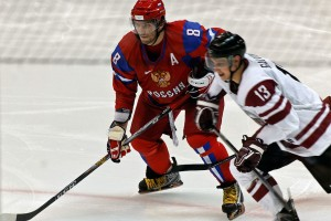 Alexander Ovechkin plays in the KHL for his home town in Moscow, Russia. Many NHL players are playing overseas due to the recent lockout.