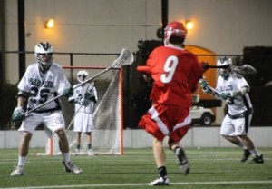 Scotty Bara ('13) plays defense for the Vikings
