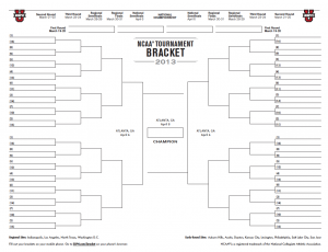 The official 2013 NCAA bracket will be released March 17 on