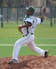 Rohit Ramkumar ('13) pitches for the Vikings.