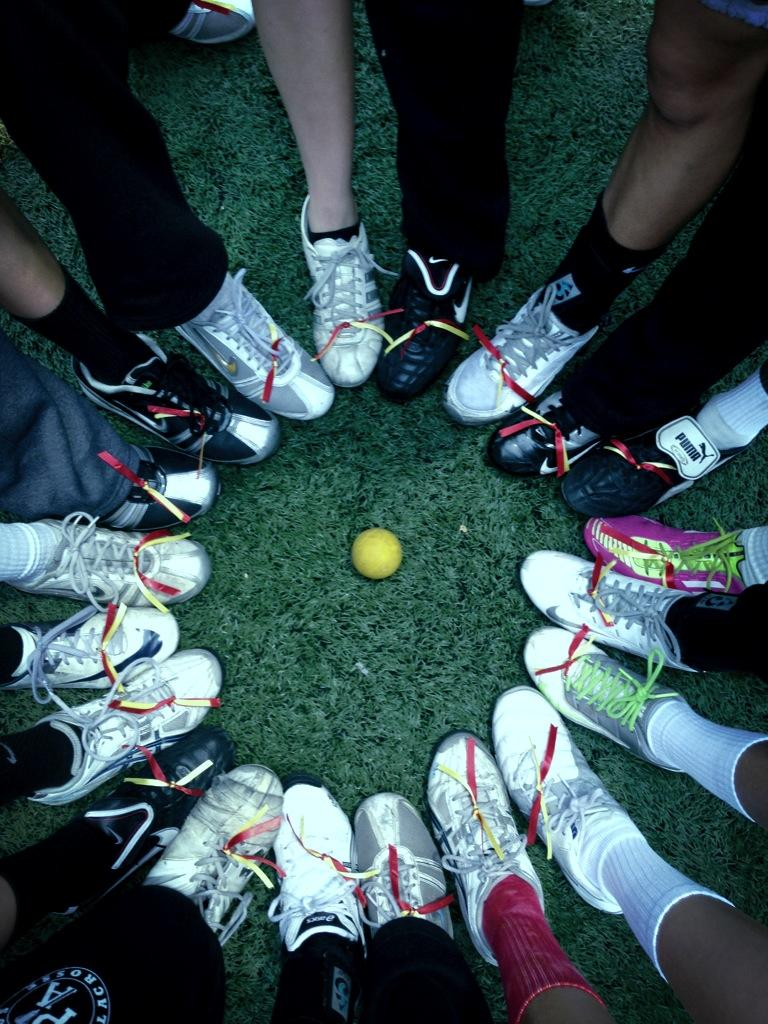 This Wednesday the girls' varsity lacrosse team supported the