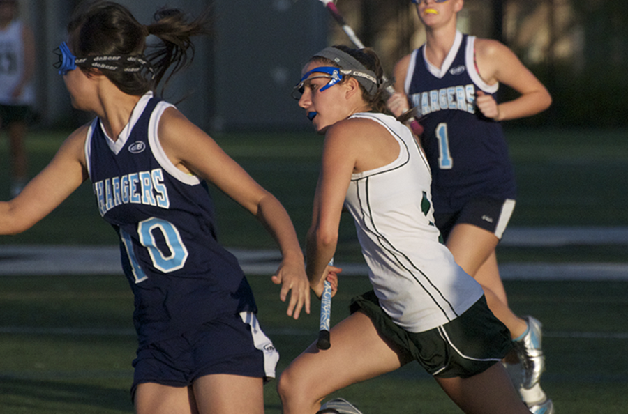Girls%27+lacrosse+breezes+by+Leland+Chargers+on+Senior+Night