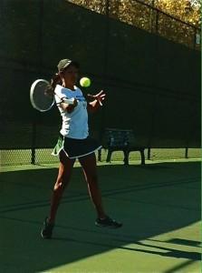 Girls' tennis team stays undefeated