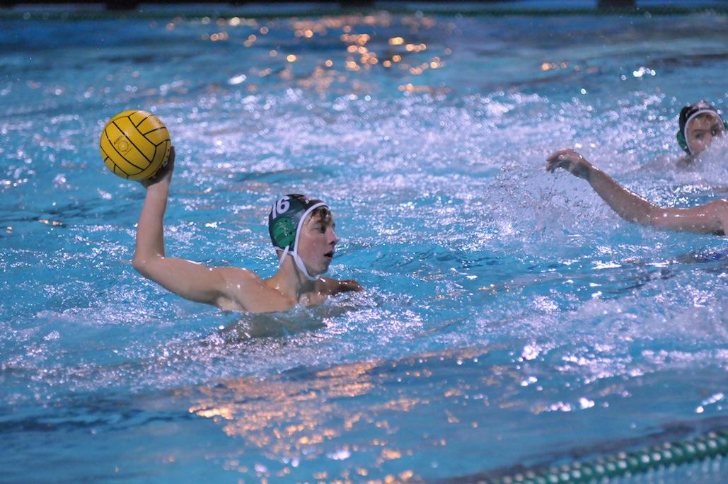 Winston Rosati ('16) prepares to take a shot on goal in their first round CCS game against Pioneer High School. The Vikings defeated the Mustangs 16-7.