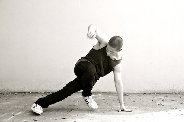 Elijah Wax ('14) shows off his b-boy moves. He has been breakdancing since middle school.
