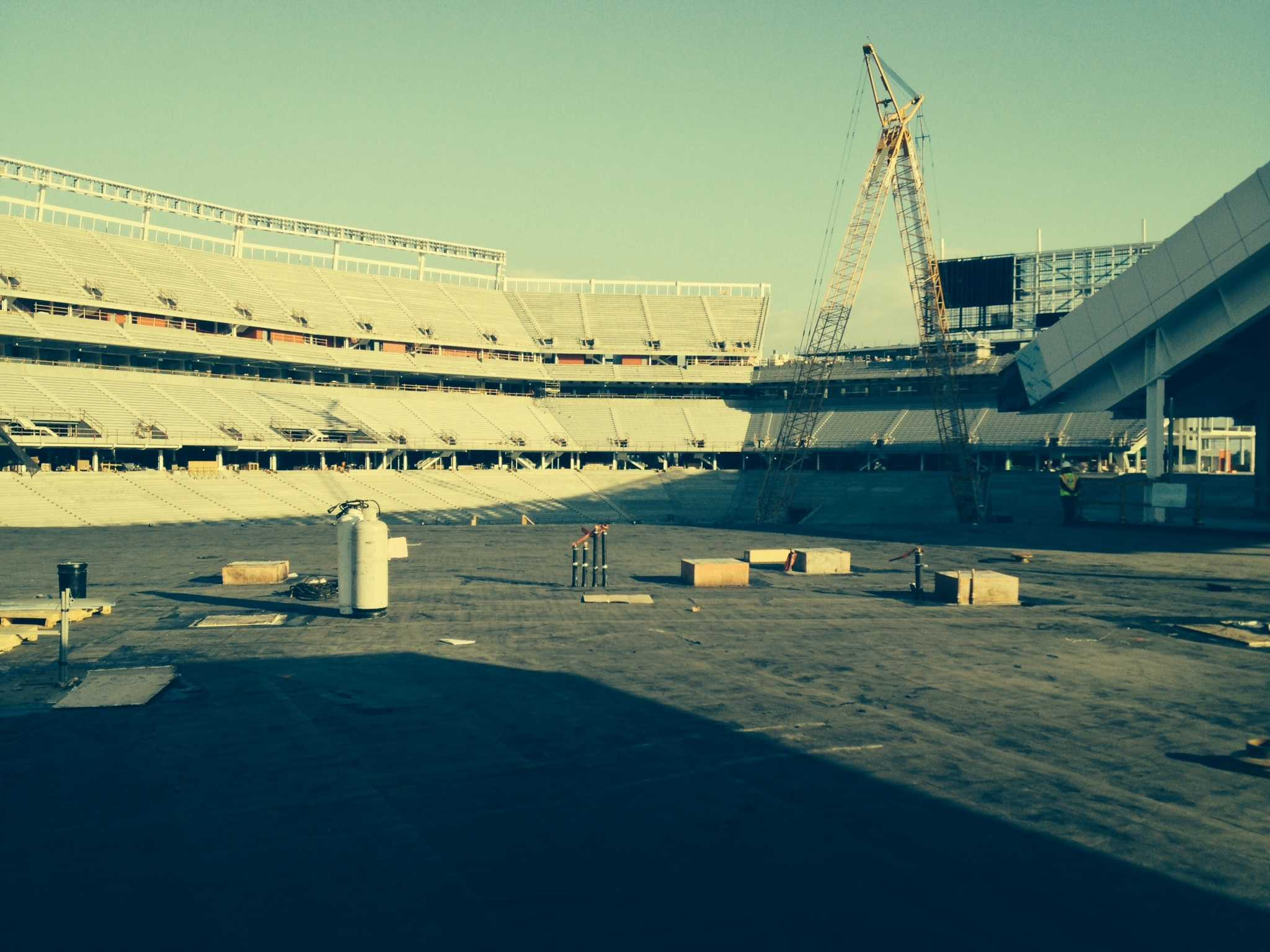 The new 49ers stadium, Levi's stadium, is scheduled to open before the start of the 2014 season.  The 49ers will move from San Francisco to Santa Clara.