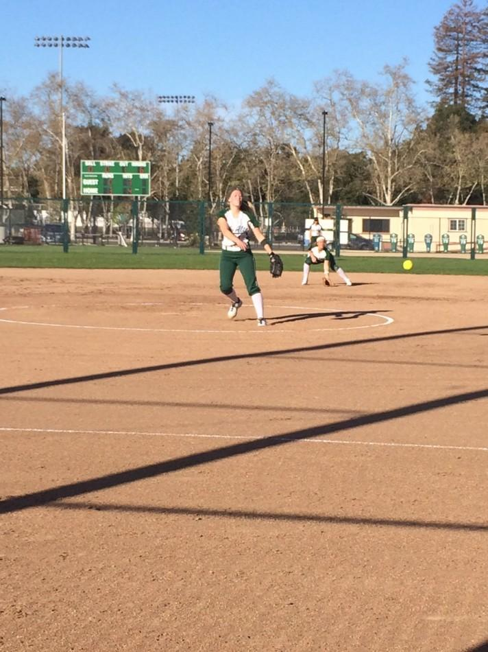 Julia Saul ('14) pitched the whole game for the Vikings. Saul totaled five strikeouts in the contest.