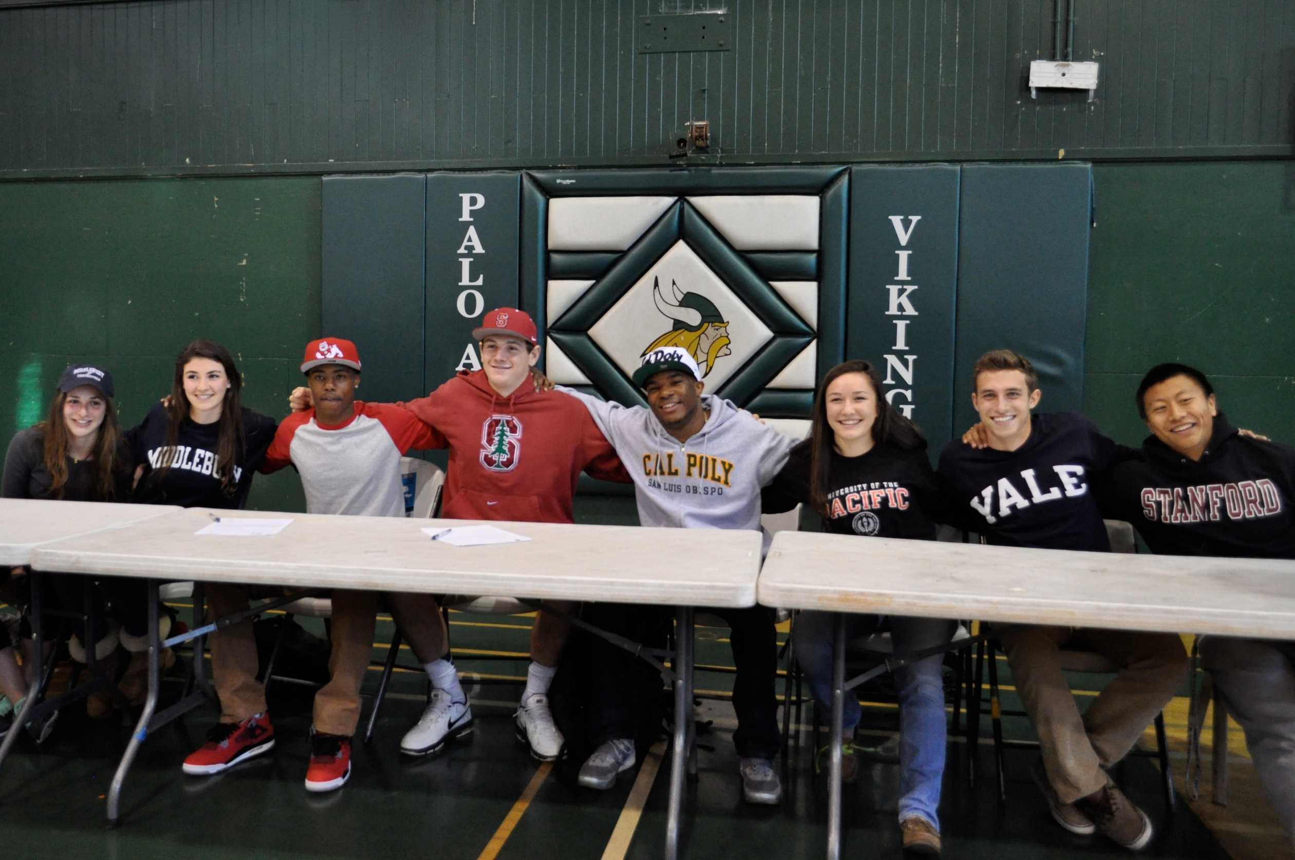 On February 5th, eight seniors signed the National Letter of Intent after commiting early to play their sport at various schools.