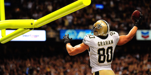 New Orleans Saints' tight end Jimmy Graham will be penalized for dunking post-touchdown.