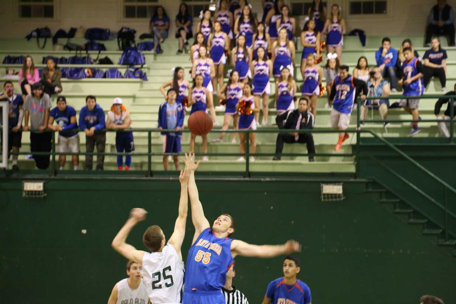 Justin Hull ('16) wins the tip for the Viking's in their last game of the season.