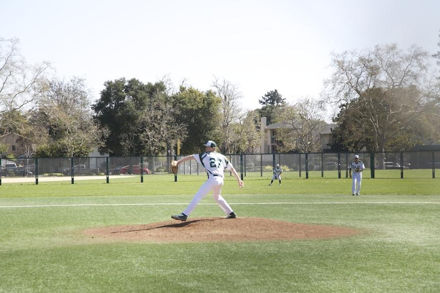 Justin+Hull+%28%2716%29+prepares+to+throw+a+pitch+against+Carlmont.+Hull+went+five+innings+and+struck+out+six.