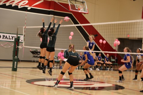 Volleyball bested by Los Altos in four sets in annual Dig Pink matchup
