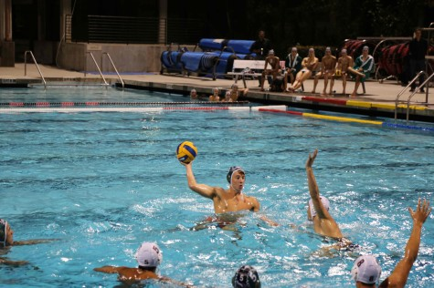 Boys' water polo falls in a physical battle against cross town rival Gunn High School 8-4