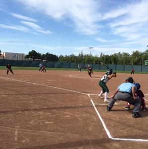 Girls' Softball beats Santa Clara 3-1