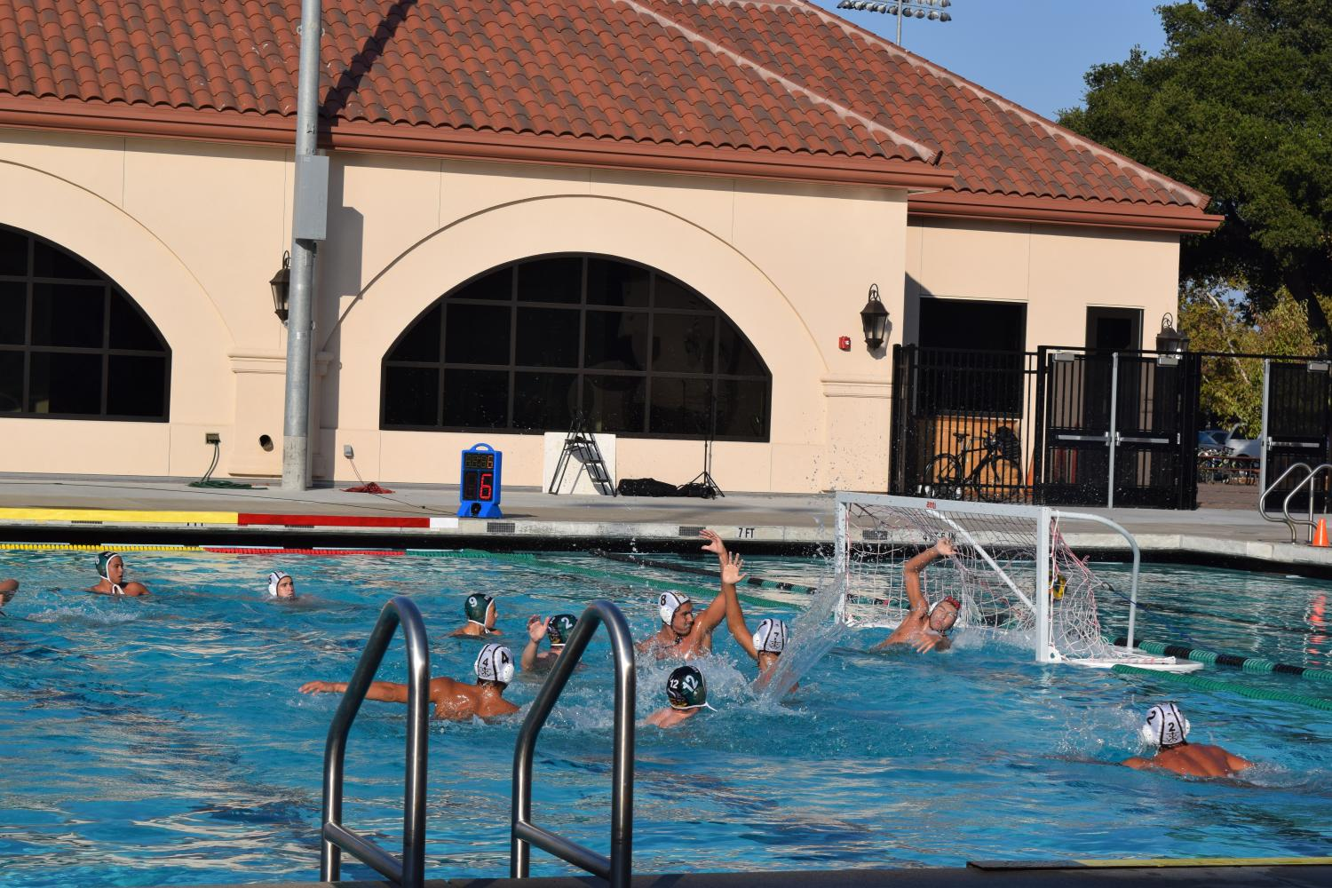 Varsity Boys Water Polo loses 13-6 to Saint Francis in a tough match