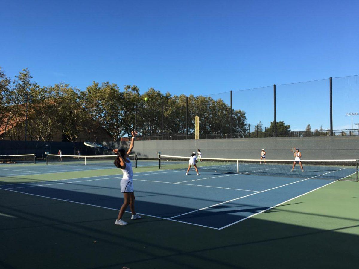 The Lady Vikes tennis team defeats Lynbrook High School 5-2