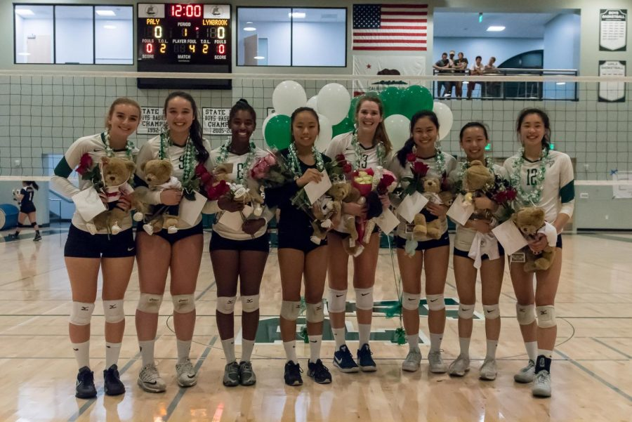 Girls Volleyball Defeats Lynbrook on Senior Night