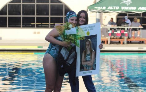 Senior Night Win for Girls' Water Polo