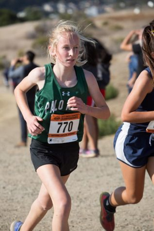 Gretchen Berndt ('21) at last season's Crystal Spring's SCVAL Championship.