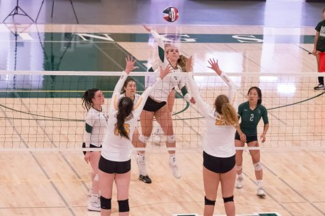 Girls Volleyball Routs Mountain View 3-1