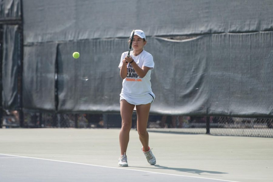 Girls+Tennis+Falls+to+Saratoga+4-3