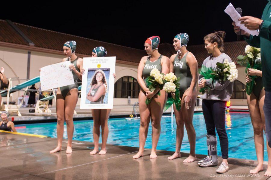 Girls Water Polo falls 10-7 on Senior Night