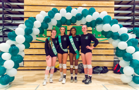 The girls volleyball graduating seniors